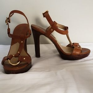 Brown & Gold Michael Kors Sandals